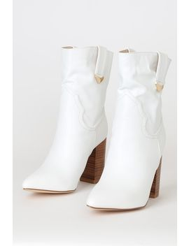 Taryne White Pointed Toe Ankle Booties by Lulus