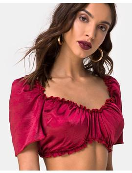 Morgan Top In Satin Cherry By Motel by Motel