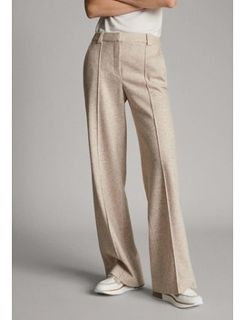 Melierte   Trousers by Massimo Dutti