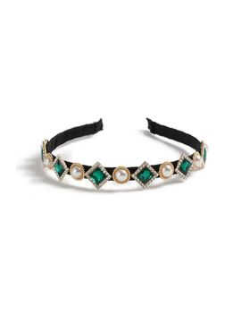 **Pearl Emerald Headband by Topshop