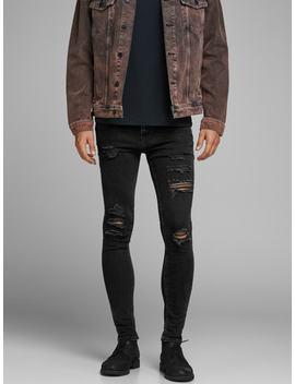 Liam Original Am 502 Skinny Fit Jeans Liam Original Am 502 Skinny Fit Jeans  Ausgewaschene Oversize Jeansjacke  Bio Baumwoll T Shirt by Jack & Jones
