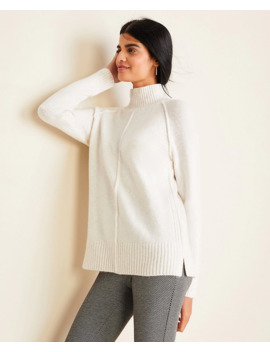 Seamed Turtleneck Tunic Sweater by Ann Taylor