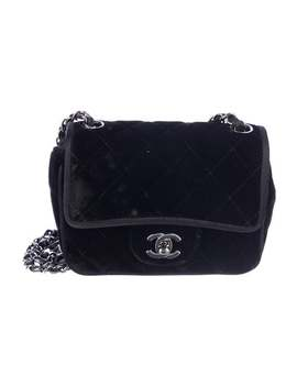 Quilted Velvet Mini Flap Bag by Chanel