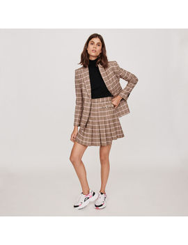 Pleated Plaid Kilt Style Skirt by Maje