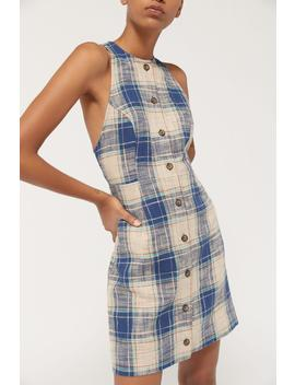 Uo Porto Plaid Button Front Mini Dress by Urban Outfitters