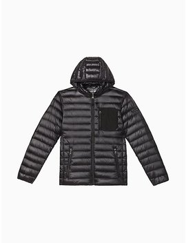 Packable Down Hooded Jacket by Calvin Klein