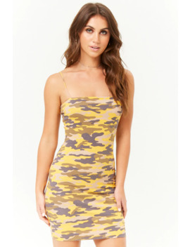 Camo Cami Mini Dress by Forever 21