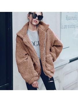 <Span><Span>Uk Womens Warm Teddy Bear Pocket Fluffy Fleece Fur Jacket Coat Oversized Outwear</Span></Span> by Ebay Seller