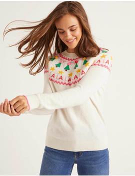Festive Fair Isle Sweater by Boden
