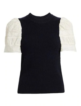 Audrey Embroidered Sleeve Sweater by Sea