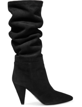 90 Suede Knee Boots by Prada
