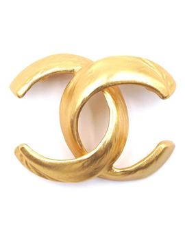 #32502 Gold Rare Cc Interlocking Hardware Brooch Pin Charm by Chanel