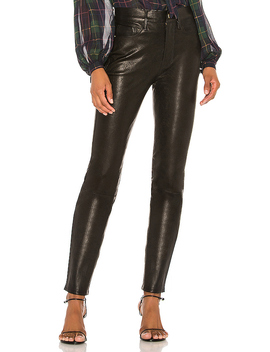 Le Sylvie Leather Pant In Noir by Frame