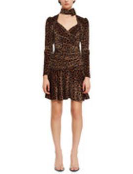 Leopard Cutout Turtleneck Dress by Attico