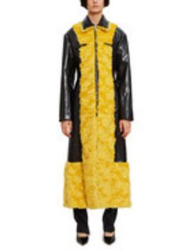 Mohair Trim Rubber Coat by Supriya Lele