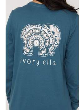 Stargazer Ojai Mandala Long Sleeve Ella Tee by Ivory Ella