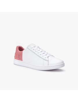 Women's Carnaby Evo Tumbled Leather Trainers by Lacoste
