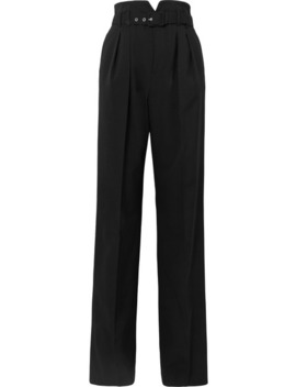 Belted Grain De Poudre Wide Leg Pants by Red Valentino