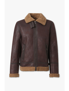 Shearling Jacket   Faux Leather by C&A