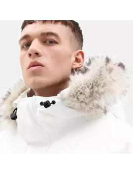 Nordic Edge Expedition Parka For Men In White by Timberland