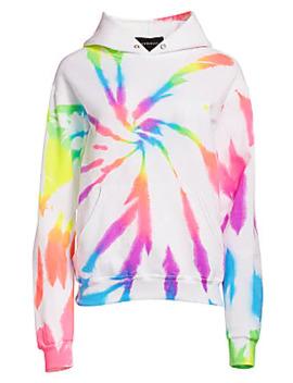 Neon Rainbow Tie Dye Hoodie by Myrrhe