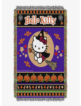 Hello Kitty Witchy Kitty Tapestry Throw by Hot Topic