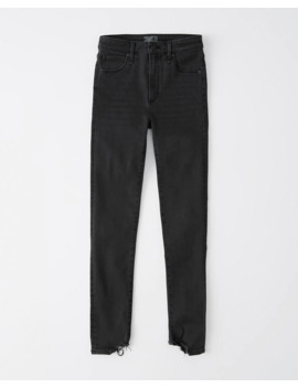 High Rise Super Skinny Ankle Jeans by Abercrombie & Fitch