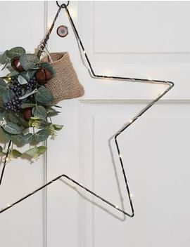 Pre Lit Star Wreath by Marks & Spencer