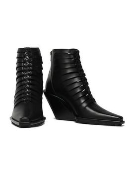 Cutout Leather Ankle Boots by Ann Demeulemeester