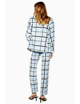 Checked Slouch Trousers by Topshop