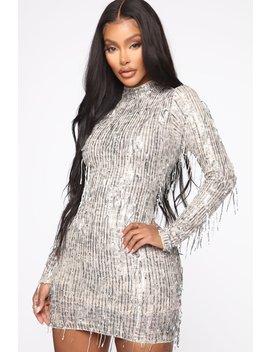 At The Disco Sequin Mini Dress   Silver by Fashion Nova