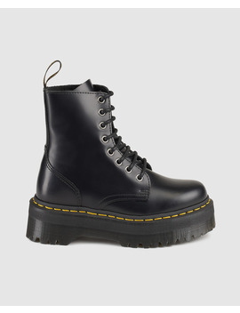 Botas Unisex Dr. Martens  Jadon Black Polished Smooth by Dr. Martens
