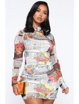Boom Boom Pow Mini Dress   Multi by Fashion Nova