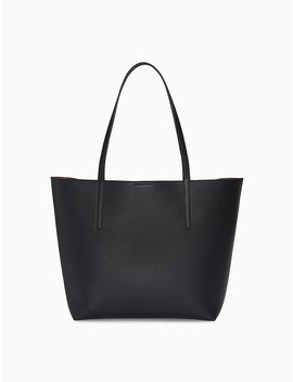 Pebble Medium Tote Bag + Zip Pouch by Calvin Klein