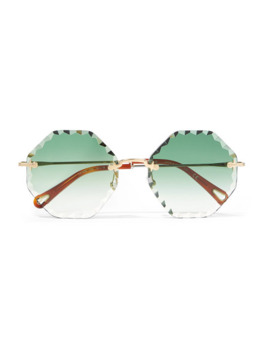 Rosie Goldfarbene Sonnenbrille Mit Achteckigem Rahmen by Chloé