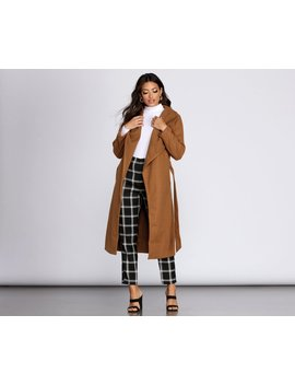 Taking Care Of Business Belted Coat by Windsor