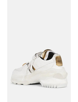 Men's Retro Fit Leather Sneakers by Maison Margiela