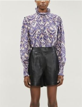 Yoshi Abstract Pattern Relaxed Fit Silk Blouse by Isabel Marant Etoile