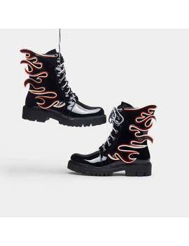 Flamo Combat Boots by Koi Footwear