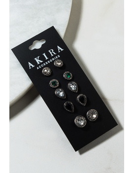 Moment 4 Life Earring Set by Akira