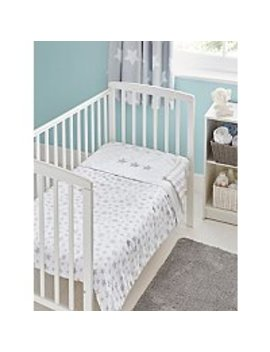 Star Print Cot And Cot Reversible Bed Quilt by Asda