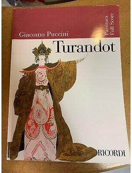 Turandot Giacomo Puccini Orchestra, Full Score by Ebay Seller