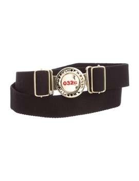 Woven Logo Buckle Belt by 032c