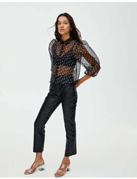 Chemisier à Pois Organza by Pull & Bear