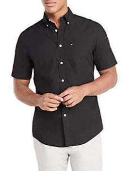 Maxwell Solid Short Sleeve Woven Shirt by Tommy Hilfiger