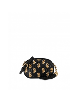 Dollar Studs Nappa Leather Clutch Bag by Moschino