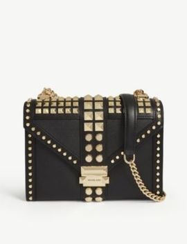 Whitney Large Studded Leather Shoulder Bag by Michael Michael Kors