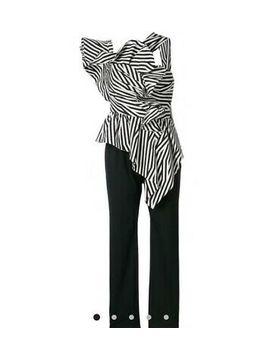 <Span><Span>New Self Portrait Striped Ruffle Jumpsuit</Span></Span> by Ebay Seller