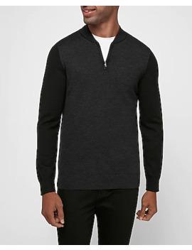 Merino Wool Blend Thermal Regulating Baseball Sweater by Express