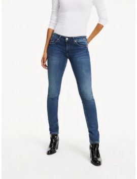 Faded Low Rise Skinny Fit Jeans by Tommy Jeans